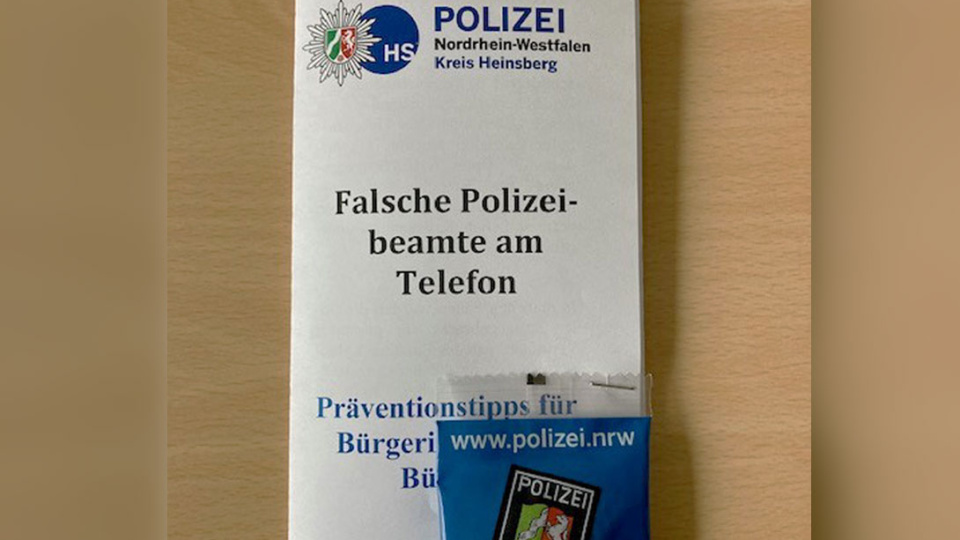 Polizei Heinsberg Flyer Kriminalprävention
